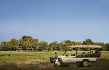 Game drives and view of the lodge